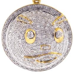 10K Yellow Gold 0.61 ct Diamond Chief Keef Blood Money Pendant