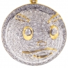 Mens Diamond Chief Keef Blood Money Pendant 10K Yellow Gold