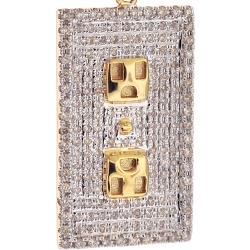 10K Yellow Gold 0.93 ct Diamond Socket Board Pendant