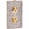Mens Diamond Socket Board Tag Pendant 10K Yellow Gold 0.93ct