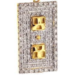 10K Yellow Gold 0.74 ct Diamond Plug Socket Pendant
