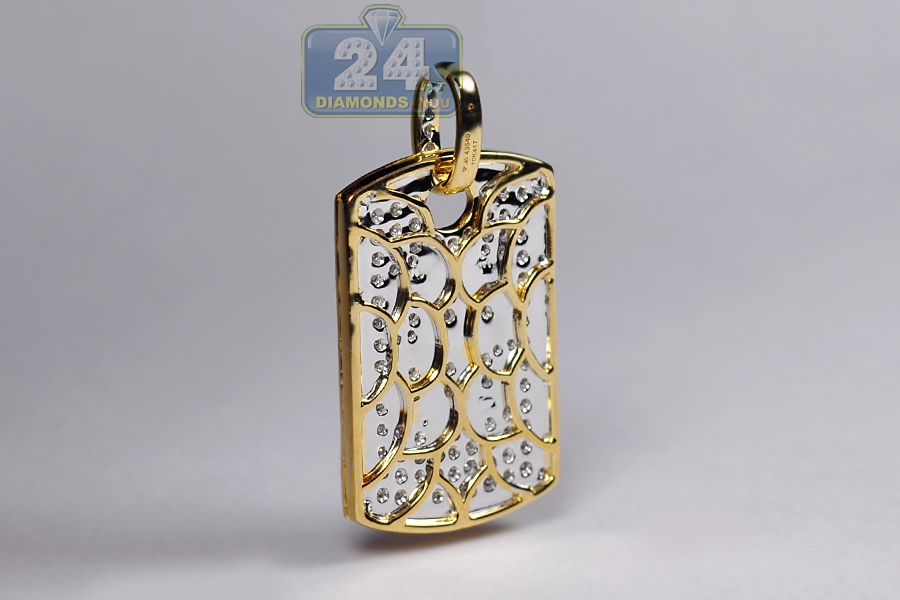 Mens Diamond Dollar Sign Medallion Bar Pendant 10k Yellow Gold