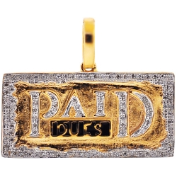 10K Yellow Gold 0.25 ct Diamond Paid Dues Medallion Pendant