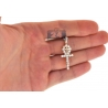 Mens Diamond Ankh Double Cross Pendant 14K Yellow Gold 1.64ct