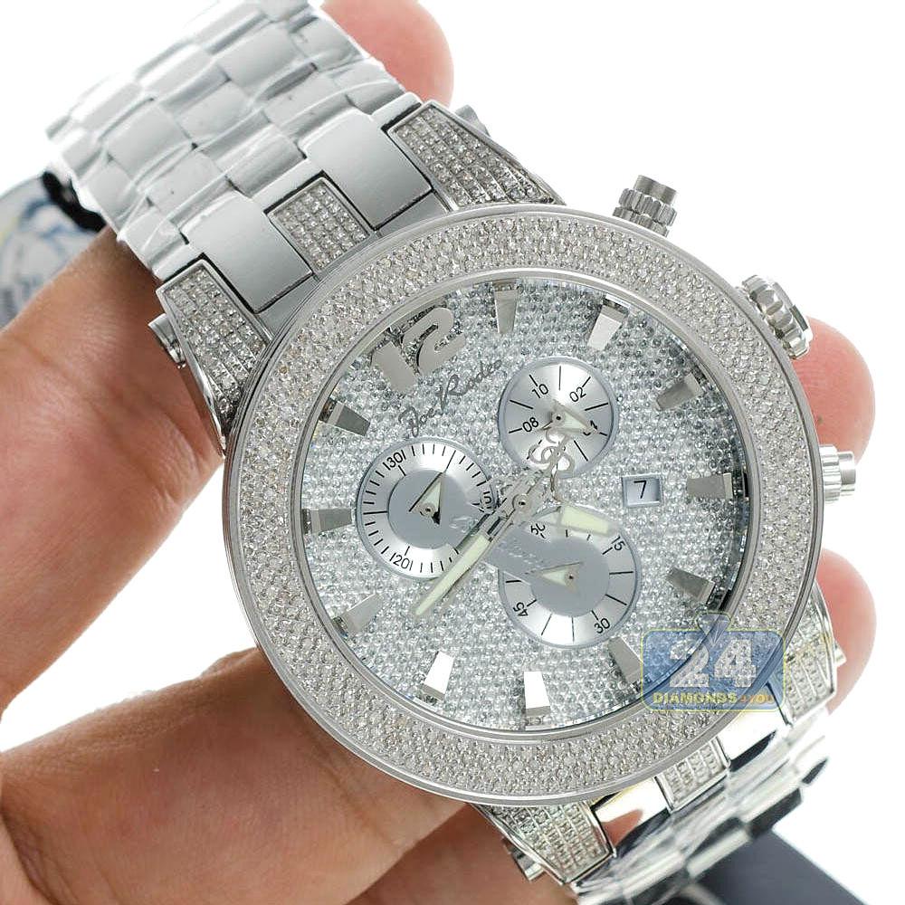 Mens Diamond Silver Watch Joe Rodeo Broadway JRBR18 5.00 Carats 9bacfbbf6