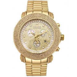 Mens Diamond Yellow Gold Watch Joe Rodeo Junior JJU307 3.30 ct