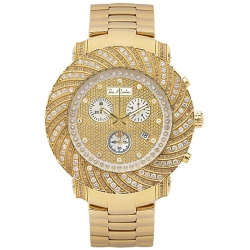 Mens Diamond Yellow Gold Watch Joe Rodeo Junior JJU160 4.25 ct