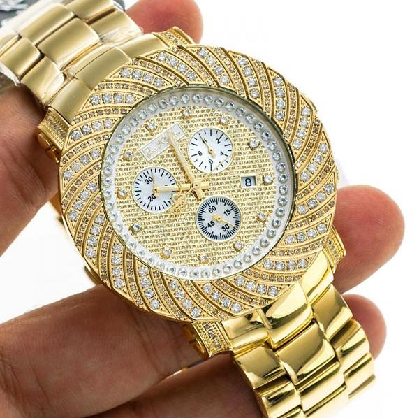 Mens Diamond Yellow Gold Watch Joe Rodeo Junior Jju160 4 25 Ct