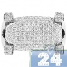 14K White Gold 1.56 ct Diamond Pave Mens Ring