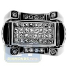 Black PVD 14K Gold 1.42 ct Princess Cut Diamond Mens Ring