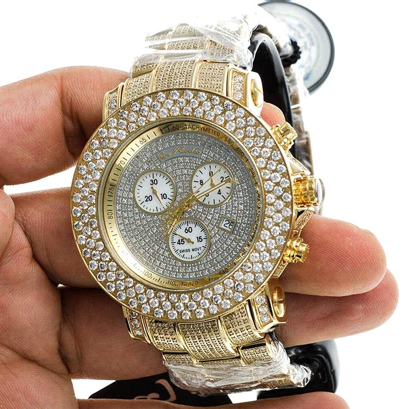 Mens Full Diamond Gold Watch Joe Rodeo Junior Jju39 20 50