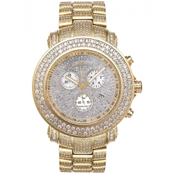 Mens Diamond Dial Gold Watch Joe Rodeo Junior JJU38 19.50 ct