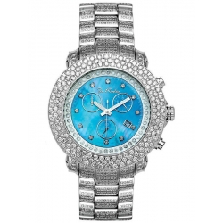 Mens Diamond Blue Dial Watch Joe Rodeo Junior JJU31 17.5 Carat