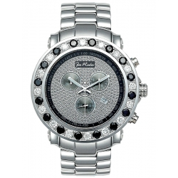 Mens Black White Diamond Bezel Watch Joe Rodeo Junior RJJU4 7 Ct