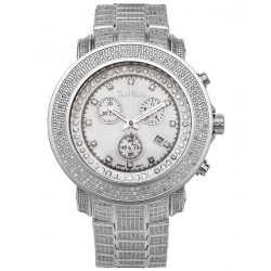 Mens Iced Out Diamond Silver Watch Joe Rodeo Junior JJU304 11.5 ct