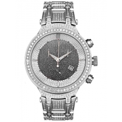 Mens White Diamond Watch Joe Rodeo Master JJM20 7.35 ct Steel