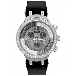 Mens Diamond Watch Joe Rodeo Master JJM24 2.65 ct Silver Case