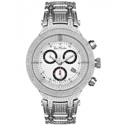 Mens Diamond Watch Joe Rodeo Master JJM13 4.75 ct Silver Case