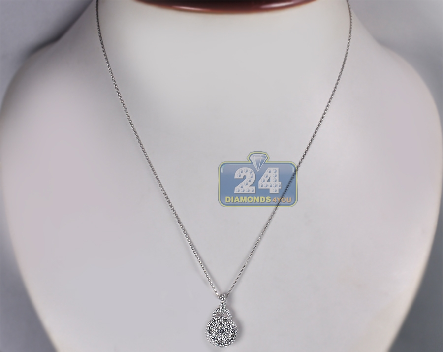 White Gold Diamond Pendant Price