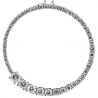 Womens Diamond Graduated Eternity Circle Pendant 14K Gold 1.88ct