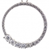14K White Gold 1.27 ct Diamond Graduated Open Circle Pendant