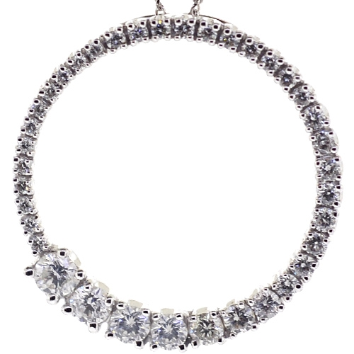 shaped diamond graduated pin anniversary necklace gifts in with diamonds v