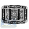 Black PVD 14K Gold 1.19 ct Princess Round Diamond Mens Ring