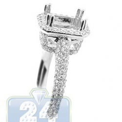 18K White Gold 0.87 ct Diamond Engagement Ring Setting