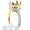 18K Yellow Gold 0.87 ct Diamond Engagement Semi Mount Ring Setting