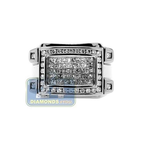 Black PVD 14K Gold 1.15 ct Mixed Diamond Mens Signet Ring