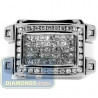 Black PVD 14K Gold 1.15 ct Mixed Diamond Mens Signet Ring
