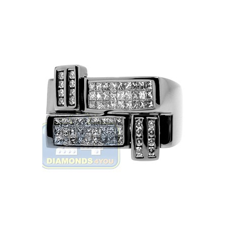 Black PVD 14K Gold 1.21 ct Princess Cut Diamond Mens Ring