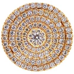 14K Yellow Gold 2.56 ct Diamond Round Shape Mens Ring