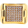 Mens Diamond Stepped Square Pinky Ring 14K Yellow Gold 1.30 ct