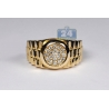 14K Yellow Gold 0.50 ct Diamond Step Shank Mens Pinky Band Ring