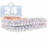 18K Rose Gold 0.76 ct Diamond Womens Wave Shaped Band Ring