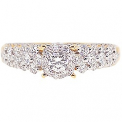 14K Yellow Gold 1.46 ct Diamond Vintage Engagement Ring