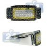 14K Gold 1.46 ct White Blue Yellow Diamond Mens Rectangle Ring