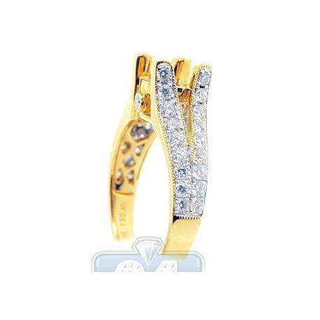 Womens 0.89 ct Diamond Engagement Ring Setting in 18K Yellow Gold