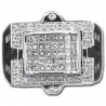 14K White Gold 1.25 ct Mixed Diamond Mens Signet Ring