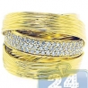 14K Yellow Gold 0.55 ct Diamond Womens Vintage Satin Finished Ring