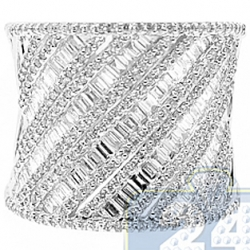 14K White Gold 1.75 ct Baguette Cut Diamond Vintage Ring