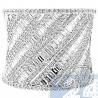 14K White Gold 1.75 ct Baguette Cut Diamond Womens Vintage Ring