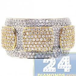 14K Two Tone Gold 1.39 ct Diamond Edged Design Womens Ring