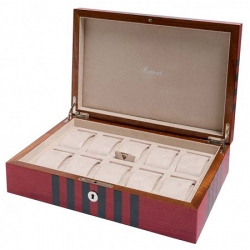 10 Watch Storage Box L444 Rapport London Labyrinth Red Wood