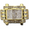 14K Yellow Gold 1.50 ct Mixed Princess Round Cut Diamonds Mens Ring