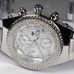 Aqua Master Sport 1.00 ct Diamond Mens Steel Watch