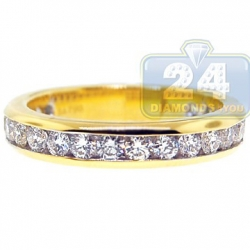 14K Yellow Gold 1.06 ct Channel Set Diamond Womens Band Ring