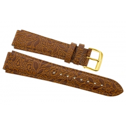 Aqua Master Sport Brown Leather Watch Band 17 mm