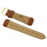 Aqua Master Sport Brown Leather Replacement Watch Band 17 mm